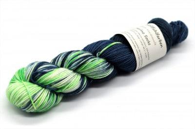 Fine Merino Socks 50 grüner Hüpfer